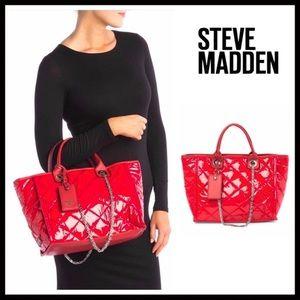 Steve Madden Bags - STEVE MADDEN RED SHOULDER TOTE WORK TRAVEL BAG A2C